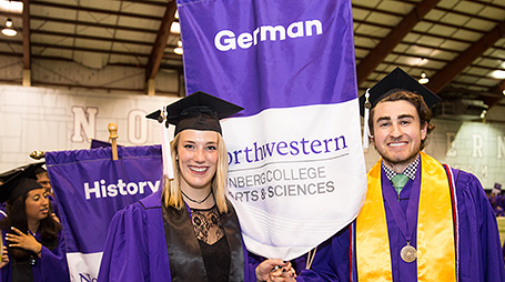 Two German majors at convocation